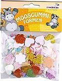 i-mondi Moosgummi-Formen mit Glitter, Herzen, Blumen & Sterne sortiert, 100 Stück, Größen: 15, 20, 30 mm, selbstklebend