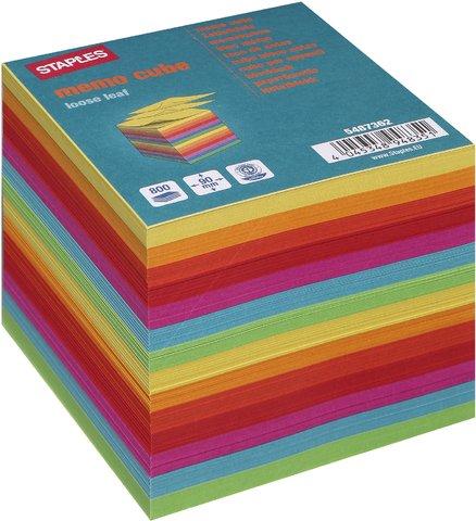 Notizzettel-Nachfü f.Zettelbox bunt RC 9x9x9cm 800 Bl