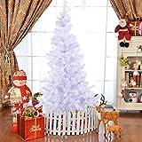 FDS COSTWAY Weihnachtsbaum künstlicher Tannenbaum Christbaum Kunstbaum Dekobaum mit Metallständer 150cm/180cm/210cm/240cm weiß (180cm)