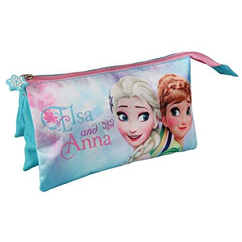 Disney Frozen Estuche portatodo Triple (Artesanía Cerdá 2100001934)