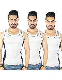 White Moon Men's Multicolour Cotton Gym Vest For Gym,Casual,Athletic Or Running Pack Of 3 - B079QGQT4B