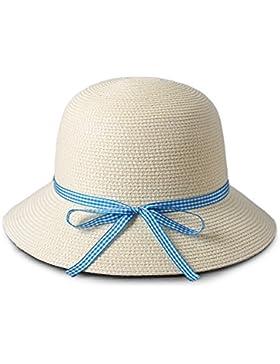 LVLIDAN Sombrero para el sol del verano Dama SolAnti-sol blanco Beachstrawhat
