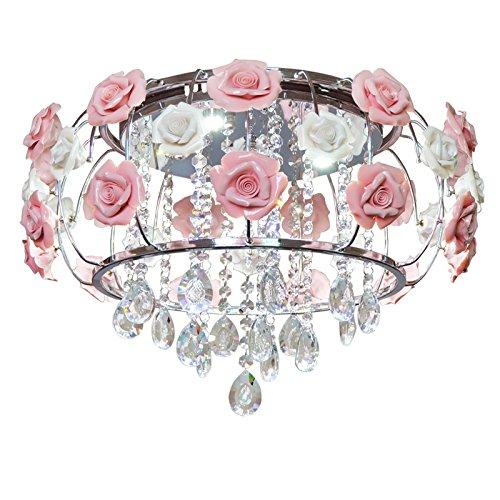 WoW Semplice Caldo E Romantico Stile Coreano Fiori Da Giardino Europeo Di Ferro Di Nozze (Anello Fiore Crystal Rose)