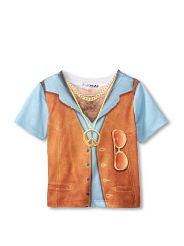 Faux Real Kids 70er Jahre Kostüm T-Shirt