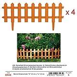 Verdemax 344376x 25cm clôture en panneaux PE Bordure décorative–Marron (Lot de 5)