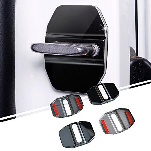 Preisvergleich Produktbild AUTOMAN Tür Lock Deckel Schnalle Gap Auto Chrom Zubehör (Schwarz)