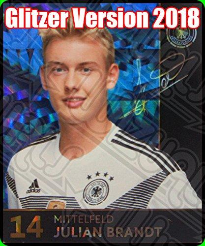DFB Russland Auswahl Glitzer Einzelkarten Sammelkarten Komplettset (Glitzer Karte Nummer 14 Julian Brandt) ()