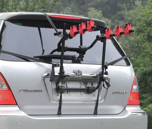 ROADMAX 3 Bicycle Bike Car Cycle Carrier Rack Universal Fitting Saloon Hatchback Estate