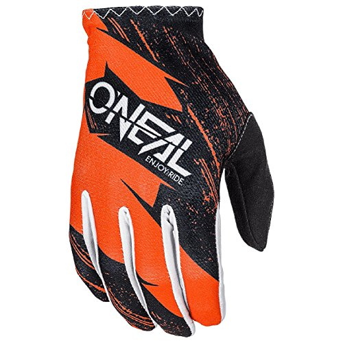O'Neal Matrix Kinder MX Handschuhe Burnout Motocross DH Downhill Enduro Offroad Mountain Bike, 0388R-1, Farbe Orange, Größe M (Off-road-mountain-bike)
