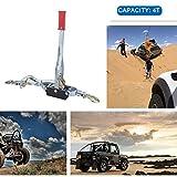 burrby 4Tonnen Kabel Abzieher, 3Haken Heavy Duty Hand Seilwinde Abzieher mit 3M Stahldraht Lifting Sling Hand Power Lift Seilwinde