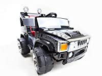 2 Speed 12V Hummer Style Jeep + RemoteFor the more initiated 2-4 year-old drivers seeking adventure;This 12 volt, 2 seat ride on truck is designed to give kids an authentic driving experience;It features twin motors, working front lights, adjustable ...