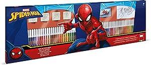 MULTIPRINT Spiderman - Juegos de Sellos para niños, Caucho, Madera, 3 año(s), Italia, 860 mm, 30 mm