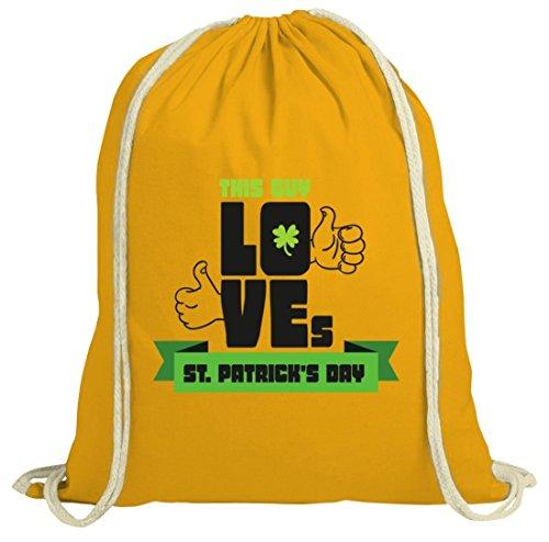Saint Patrick´s Day St. Patricks Day natur Rucksack Turnbeutel This Guy Loves St. Patrick's Day gelb natur