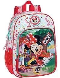 Disney 2392351 Minnie Strawberry Mochila Escolar, 15.43 Litros, Color Rosa