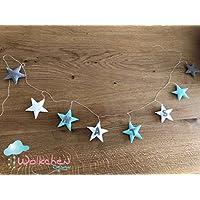 Sternengirlande aus Filz