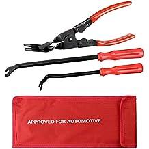 ezykoo Trim Clip rimozione Pinza + 2pcs Chiusura rimozione auto Pannello Porta Tappezzeria Remover Combo Kit di riparazione per auto veicoli