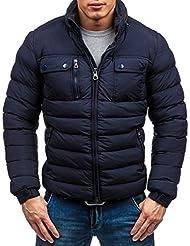 BOLF Herrenjacke Herren Jacke ohne Kapuze Winterjacke J.STYLE 3045