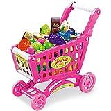 Kinder Einkaufswagen 80 tlg. für Kaufladen in pink