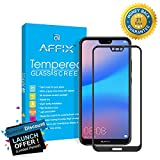 #9: Affix Full Glue Huawei P20 Lite Full Coverage 9H Tempered Glass, Full Edge-to-Edge 5D Screen Protector - Black