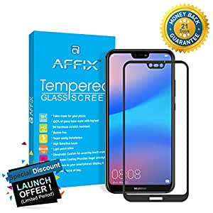 Affix 9H Full Edge-To-Edge 5D Tempered Glass for Huawei P20 Lite (Black)
