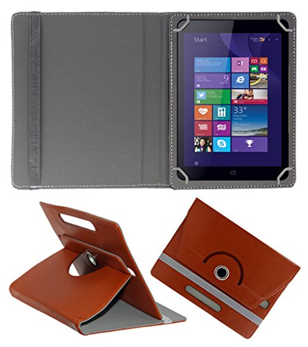 ACM ROTATING 360° LEATHER FLIP CASE FOR IBALL SLIDE WQ32 TABLET STAND COVER HOLDER BROWN  available at amazon for Rs.159