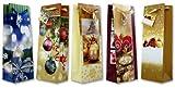 30 Geschenktüten Weihnachten Flaschentüten Black 36x11x10 Weihnachtstüten 22-0143