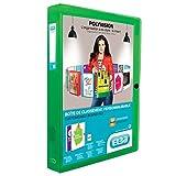 ELBA 100200147 Kunststoff-Sammelbox polyvision 8er Pack 4 cm breit DIN A4 grün Drucknopf-Verschluss Sammel-Mappe Heftbox Heft-Sammler Dokumenten-Box ideal für Büro Schule und die mobile Organisation