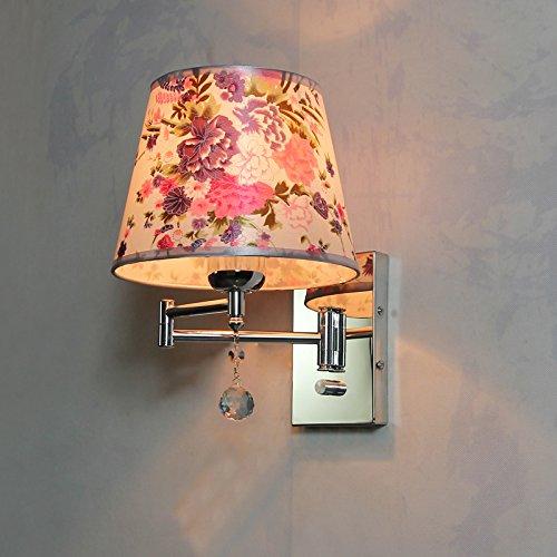 GaoHX Crystal Lampada da parete a luce del monitor al posto letto Camera da letto posto letto la lettura della scala (interruttore a bilanciere) luci da parete,A