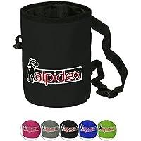 ALPIDEX Bolsa de magnesio con Cinturón Highfly, Color Black Rock