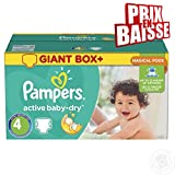 Couches Pampers - Taille 4 active baby dry - 348 couches bébé