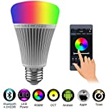Not IR FUYUTEC E27 490LM 50Watt Equivalent RGB+Warm White LED Color Changing Dimmable Light Bulb with 2.4G RF Wireless Remote Controll