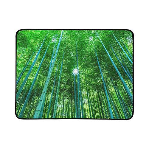 KAOROU Bambuswald Tragbare Und Faltbare Deckenmatte 60x78 Zoll Handliche Matte Für Camping Picknick Strand Indoor Outdoor Reise