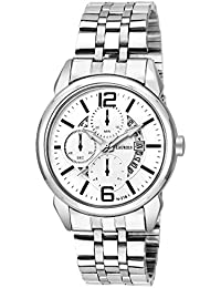 Laurels White Color Date Analog Men's Watch With Metal Chain: LWM-AST-VI-010707