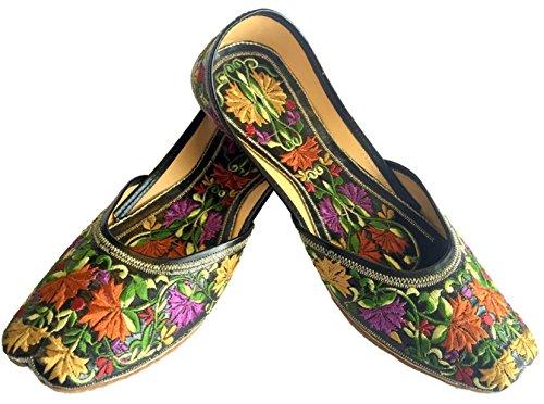 N Step, dicono le donne s, in pelle, con motivo a Sandali Ballerina Multicolore (Multicolore)