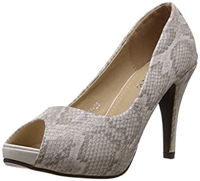 Favore Women's Elvira White Pumps - 8 UK (A81-25)