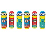 #5: Meya Happy 2018 Latest Design (Pack of 6) Sketch Pens Set In Cartoon Character Plastic Box | Best Low Cost Return Gift For Kids Birthday Party