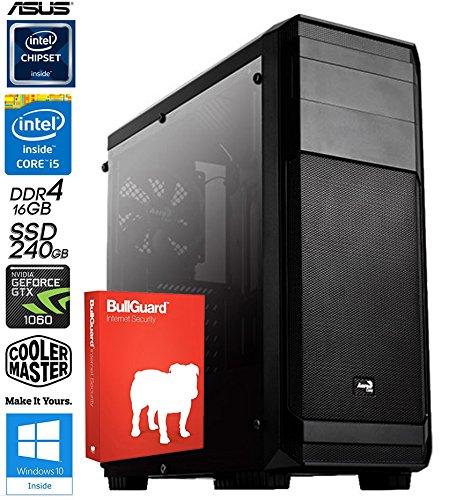 SNOGARD GAMER / Multimedia PC Intel Core i5-8400 6x 2800MHz Coffee Lake • 6GB ASUS NVIDIA GeForce GTX1060 PCIe • 16GB DDR4-RAM • 2000GB HDD + 240GB SSD • Dual Layer DVD-Brenner • Multimedia Desktop Computer • Gamer PC • Gaming Computer • Desktop PC • Gamer Rechner