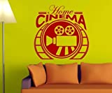 myDruck-Store Home Cinema Kino Wandtattoo Wandaufkleber Kamera Wand Deko Film Aufkleber 5S068, Farbe:Schwarz Matt;Breite vom Motiv:50cm