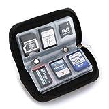 Leegoal 22 Slots Cell Phone CF SD Memory Card Carrying Case Bag(Black)