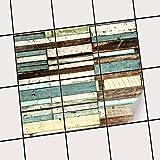 creatisto Fliesen-Dekor | Klebe-Sticker Aufkleber Folie Küchenfliesen Bad-Folie Badgestaltung | 15x20 cm Design Motiv Schiffsbruch - 6 Stück