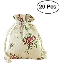 a4c5d9e1c OUNONA Bolsas de Yute Saco de Joyas Caramelo Bombones Regalo Bolsas  Decoración Boda 20pcs