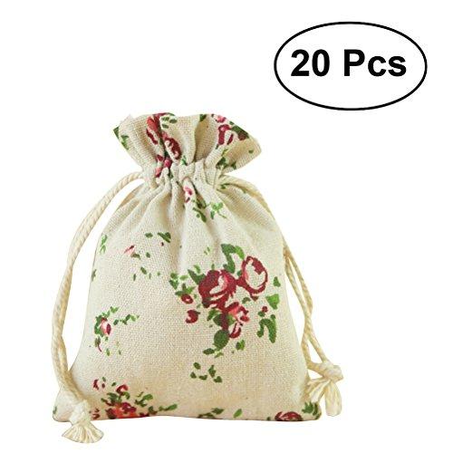 64afcecae OUNONA Bolsas de Yute Saco de Joyas Caramelo Bombones Regalo Bolsas  Decoración Boda 20pcs