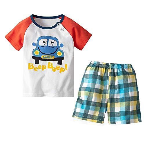 Yilaku Bambini e Ragazzi Abbigliamento T Shirt Shorts Set di Abbigliamento