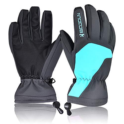 Wasserdichte Skihandschuhe Thermal Winter Snowboard Radfahren Schneemobil Warme Handschuhe Handwärmer Tasche,Blue,S -
