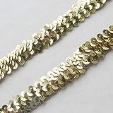 9,1 m Elastische Pailletten-Band Saum Basteln Nähen Garnitur gold