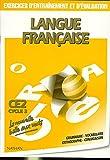 Image de Langue française. Exercices d'entraînement et d'évaluation, CE2, cycle 3