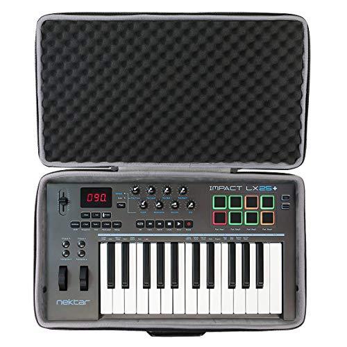 co2CREA Hart Reise Schutz Hülle Etui Tasche für Nektar Impact LX 25+ / LX-25 Plus MIDI Studio Controller (Travel case)