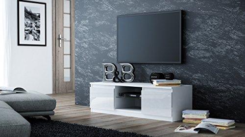 Porta tv moderno auras l h p mobile per tv bianco per