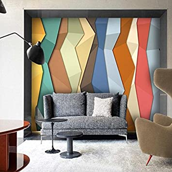 Huangyahui Wandbilder Abstrakte Dreidimensionale Farbige Blöcke