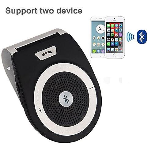 Aupolo Freisprecheinrichtung Car-Kit V4.1 Bluetooth Visier Freisprechanlage Auto Lautspreche Musik